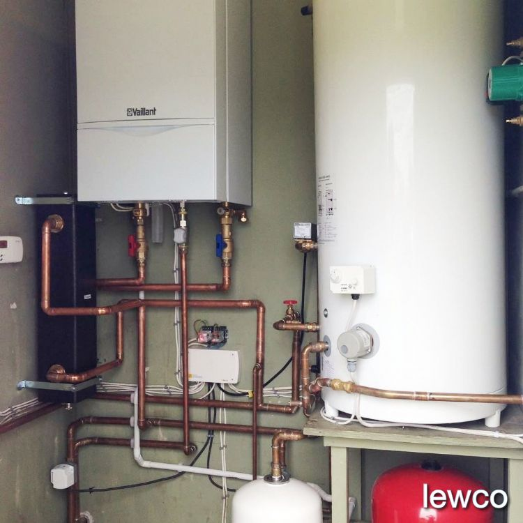Commercial gas boiler installation