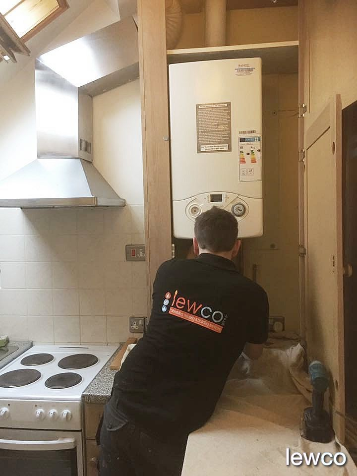 Gas boiler installation